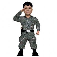 경례하는 군인/육군/공군/해군