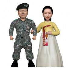 군인/육군부부/군복/한복/커플