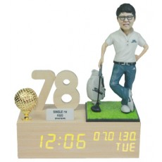 골프/LW005/나무led시계받침