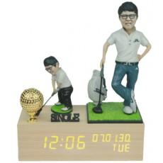 골프/LW006/나무led시계받침