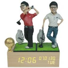 골프/LW007/나무led시계받침
