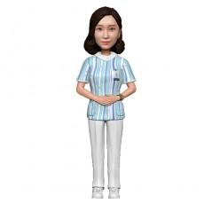 여자간호사/병원/간호사피규어