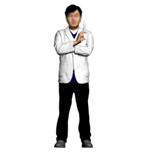 의사/주사기든/남성/퇴직기념패