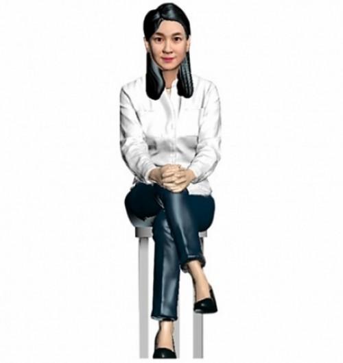 캐쥬얼/의자앉아있는자세/여성/퇴직기념패