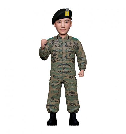 군인피규어 트로피/특전사/화이팅