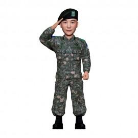 군인피규어 트로피/육군 전투복/경례