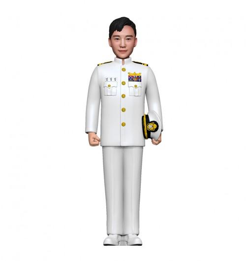 군인피규어 트로피/ 해군하정복/차렷