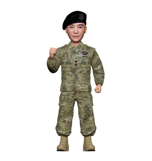 군인피규어 트로피/해군udt/화이팅