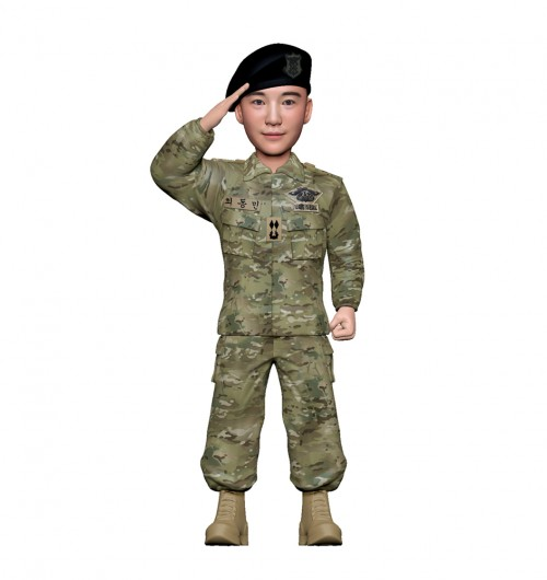 군인피규어 트로피/해군udt/경례