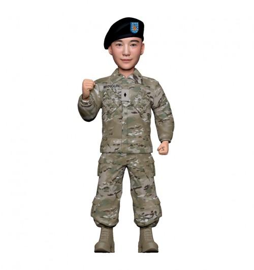 군인피규어 트로피/미군전투복/화이팅