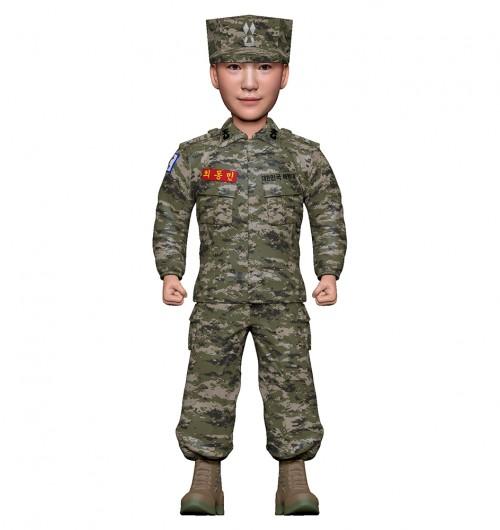 군인피규어 트로피/해병대전투복/기본자세