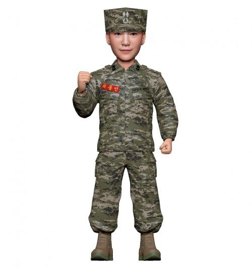 군인피규어 트로피/해병대전투복/화이팅