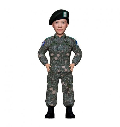 군인피규어 트로피/육군전투복/여군/허리손