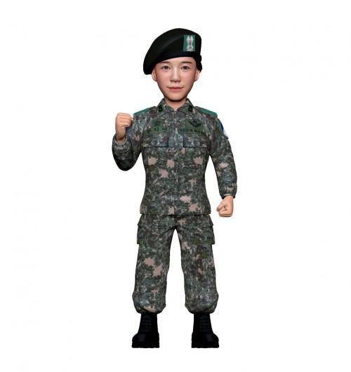 군인피규어 트로피/육군전투복/여군/화이팅